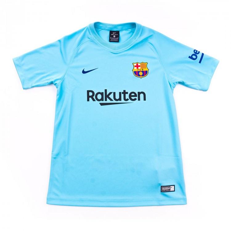 Jersey Nike Jr FC Barcelona SS Away 2017-2018 Polarized blue-Deep ... 4c872d6ae1d