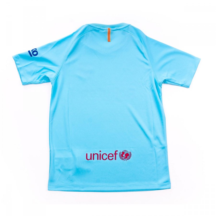 Camiseta Nike FC Barcelona Supporters SS Segunda Equipación 2017-2018 Niño  Polarized blue-Deep royal blue - Leaked soccer 21b720cb112