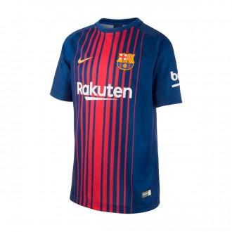 Camiseta  Nike FC Barcelona SS Supporters Primera Equipación 2017-2018 Niño Deep royal blue-University gold