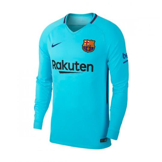 04ccbe2ae98 Jersey Nike FC Barcelona Stadium LS Away 2017-2018 Polarized blue-Deep  royal blue - Tienda de fútbol Fútbol Emotion