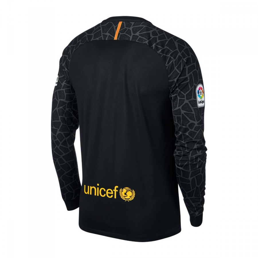 Jersey Nike FC Barcelona Stadium 2017-2018 Goalkeeper Away Kit Black ... 80083fb7ac1d3