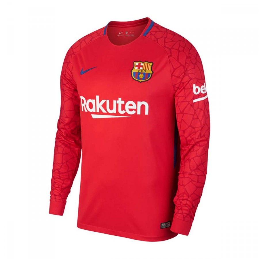 cb39a2159e13d Camiseta Nike FC Barcelona Stadium LS Portero 2017-2018 University red-Gym  red-Deep royal blue - Tienda de fútbol Fútbol Emotion