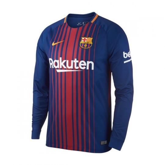 Camiseta  Nike FC Barcelona Stadium LS Primera Equipación 2017-2018 Deep royal blue-University gold