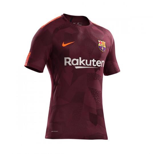 Camiseta  Nike FC Barcelona Stadium SS Tercera Equipación 2017-2018 Night maroon-Hyper crimson