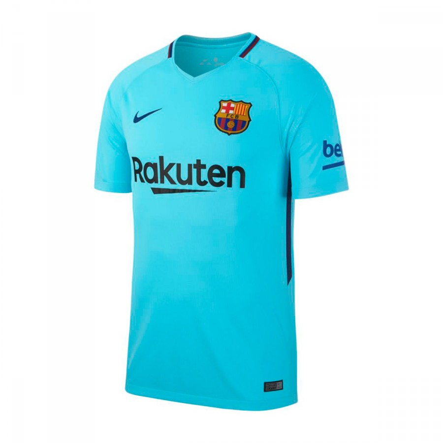 Jersey Nike FC Barcelona Stadium SS Away 2017-2018 Polarized blue ... a7ab6474ad65b