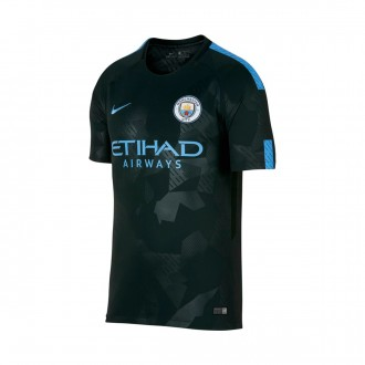 Camiseta  Nike Manchester City FC Stadium SS Tercera Equipación 2017-2018 Outdoor green-Field blue