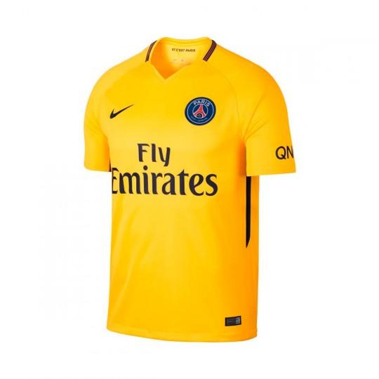 Camisola  Nike Paris Saint-Germain Stadium SS Alternativo 2017-2018 Tour yellow-Midnight navy