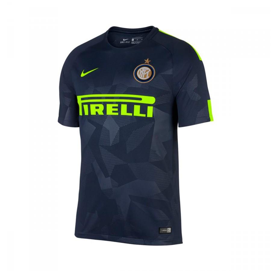 5dd0736404c2b Camiseta Nike Inter Milán Stadium SS Tercera Equipación 2017-2018 Thunder  blue-Volt - Tienda de fútbol Fútbol Emotion