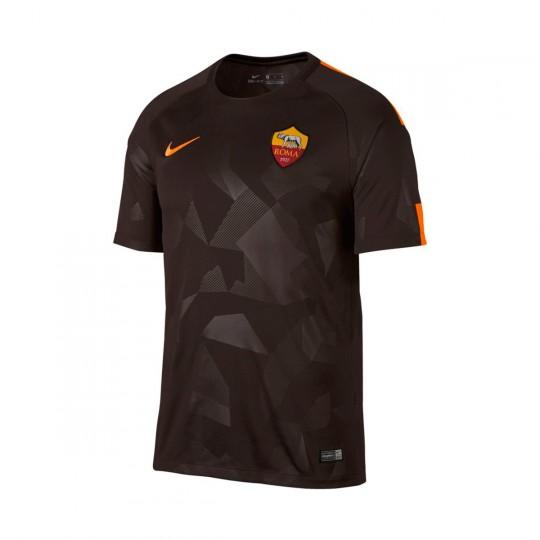 Camisola  Nike AS Roma Stadium SS 3ª 2017-2018 Velvet brown-Vivid orange