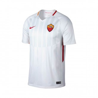 Camisola  Nike AS Roma Stadium SS Alternativo 2017-2018 White-Off white-Tean crimson