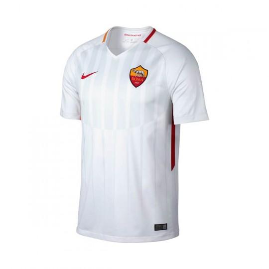 Camiseta  Nike AS Roma Stadium SS Segunda Equipación 2017-2018 White-Off white-Tean crimson