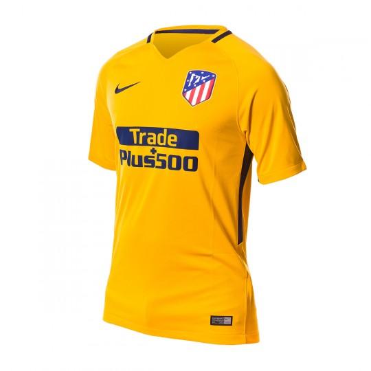 Camiseta  Nike Atlético de Madrid Stadium SS Segunda Equipación 2017-2018 University gold-Midnight navy