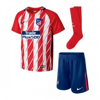 Conjunto  Nike Atlético de Madrid Primera Equipación 2017-2018 Niño Sport red-White-Deep royal blue
