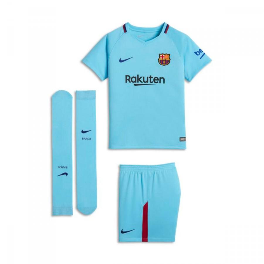 ae3f0eb6a53f6 Kit Nike Kids Barcelona FC Away 2017-2018 Polarized blue-Deep royal ...