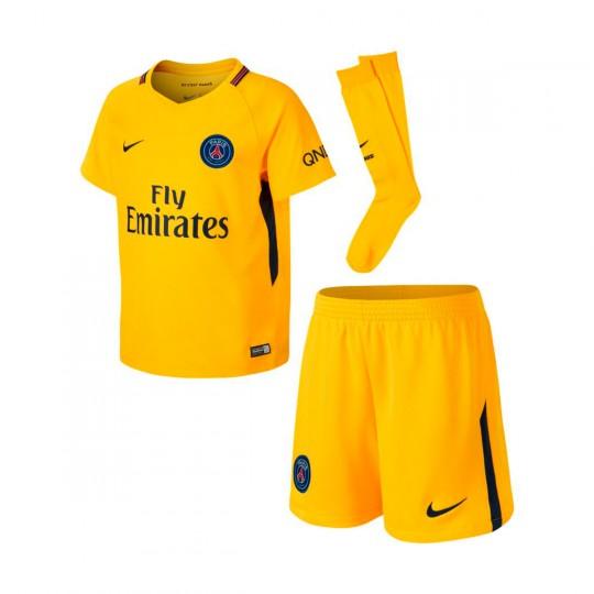 Conjunto  Nike Paris Saint-Germain Segunda Equipación 2017-2018 Niño Tour yellow-Midnight navy