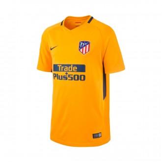 Camiseta  Nike Atlético de Madrid Stadium SS Segunda Equipación 2017-2018 Niño University gold-Midnight navy