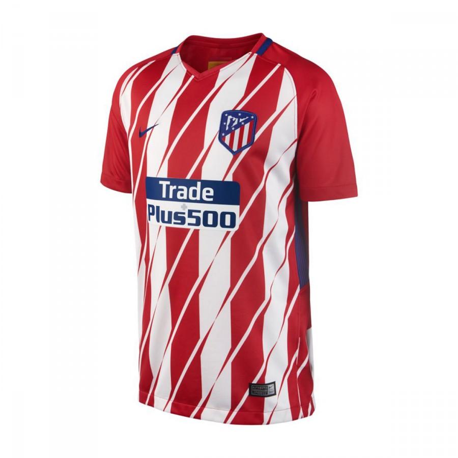 Camiseta Nike Atlético de Madrid Stadium SS Primera Equipación 2017-2018  Niño Sport red-White-Deep royal blue - Soloporteros es ahora Fútbol Emotion cc486b02cc561