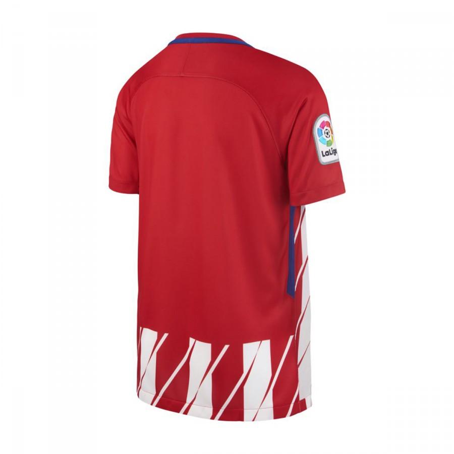 Camiseta Nike Atlético de Madrid Stadium SS Primera Equipación 2017-2018  Niño Sport red-White-Deep royal blue - Soloporteros es ahora Fútbol Emotion 76c8cac987220