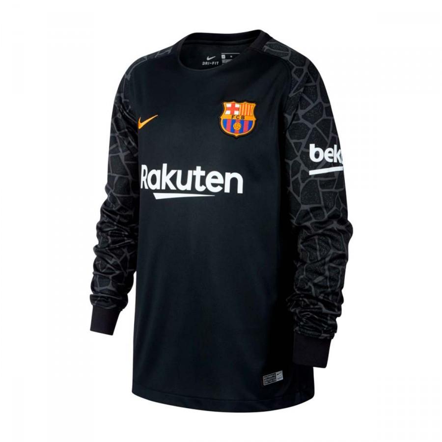 9cccb3bae Jersey Nike FC Barcelona Stadium LS 2017-2018 goalkeepers Kids Black ...