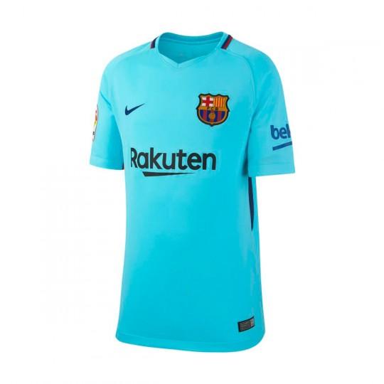 Camiseta  Nike FC Barcelona Stadium SS Segunda Equipación 2017-2018 Niño Polarized blue-Deep royal blue