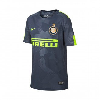 Camisola  Nike Inter Milan Stadium SS Equipamento Alternativo 2017-2018 Crianças Thunder blue-Volt