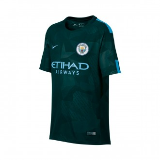 Camisola  Nike Jr Manchester City FC Stadium SS 3ª 2017-2018 Outdoor green-Field blue