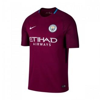 Camiseta  Nike Manchester City FC Stadium SS Segunda Equipación 2017-2018 Niño True berry-White