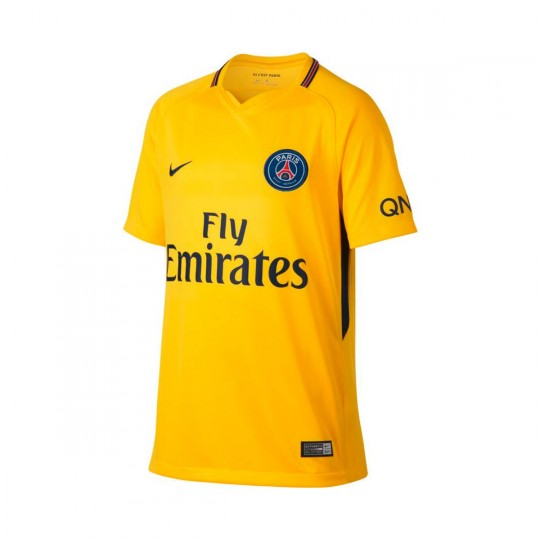 Camisola  Nike Jr Paris Saint-Germain Stadium SS Alternativo 2017-2018 Tour yellow-Midnight navy
