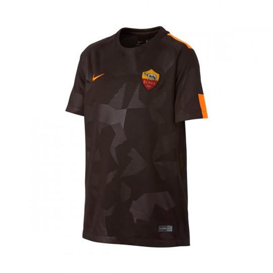 Camisola  Nike Jr AS Roma Stadium SS 3ª 2017-2018 Velvet brown-Vivid orange