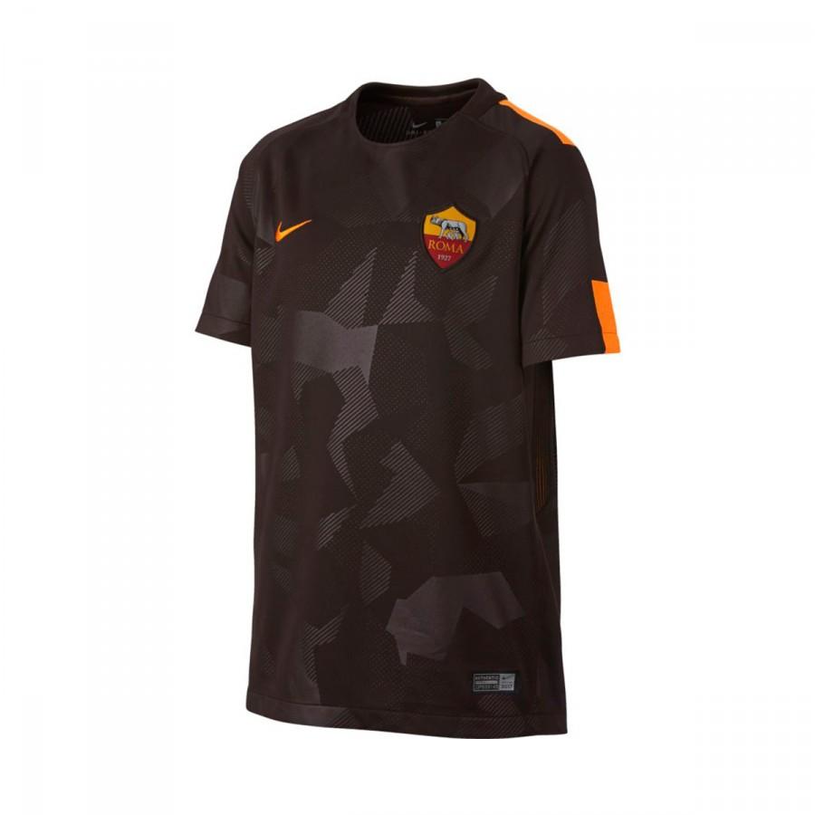 Camiseta Nike AS Roma Stadium SS Tercera Equipación 2017-2018 Niño Velvet  brown-Vivid orange - Soloporteros es ahora Fútbol Emotion 171bb5d913a14