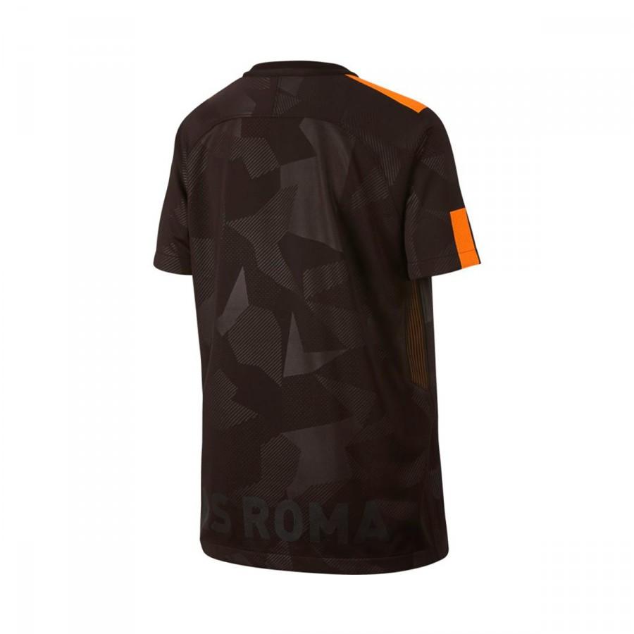 Camiseta Nike AS Roma Stadium SS Tercera Equipación 2017-2018 Niño Velvet  brown-Vivid orange - Soloporteros es ahora Fútbol Emotion dc46ff59e8831