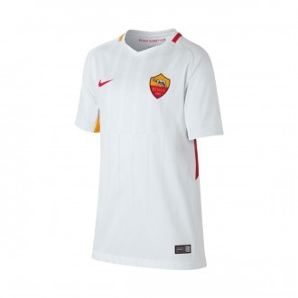 Camisola  Nike Jr AS Roma Stadium SS Alternativo 2017-2018 White-Off white-Team crimson