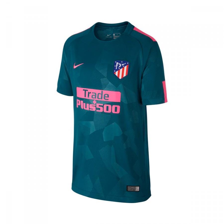 29c6dc1e87cae Camiseta Nike Atlético de Madrid Stadium SS Tercera Equipación 2017-2018  Niño Space blue-Laser pink - Tienda de fútbol Fútbol Emotion