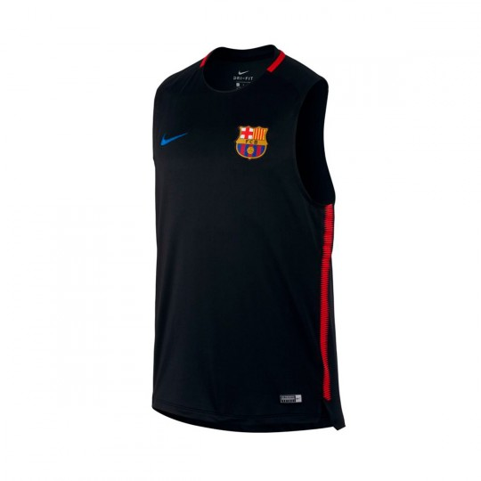Camiseta  Nike FC Barcelona Squad SL 2017-2018 Black-University red-Soar