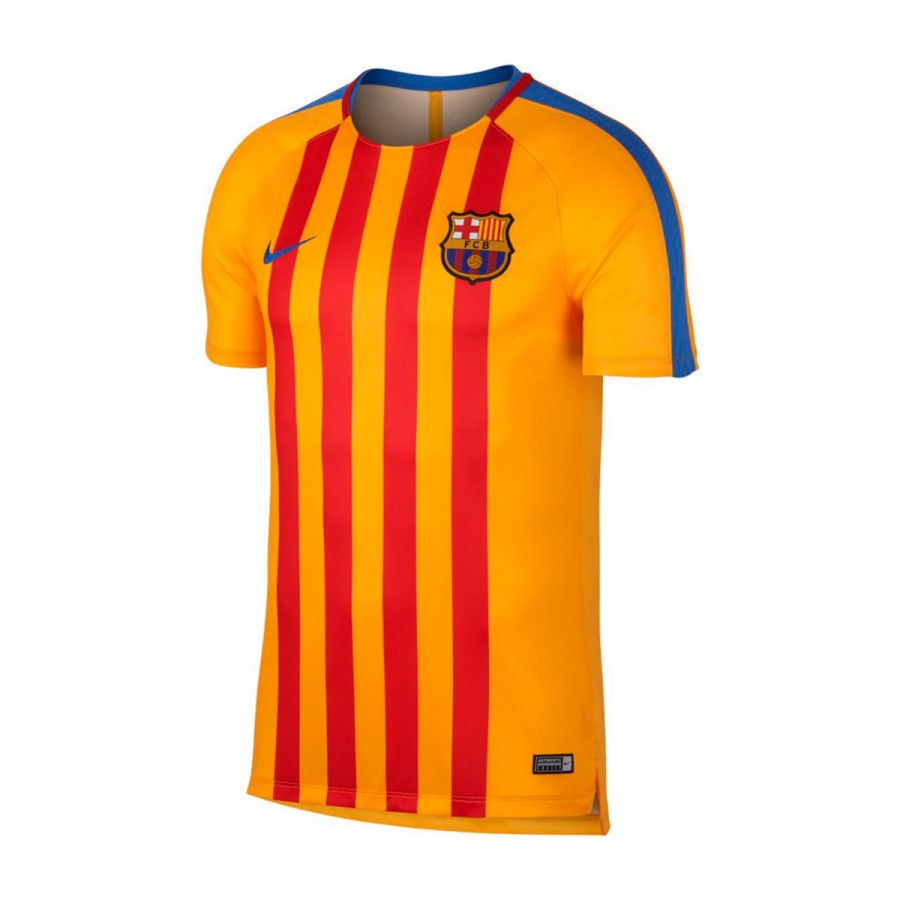 c8f9051662 Camiseta Nike FC Barcelona Pre-Match 2017-2018 University gold-Game royal -  Soloporteros es ahora Fútbol Emotion