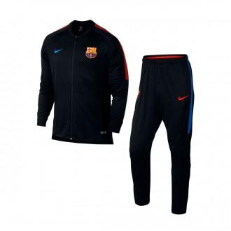 Fato de treino  Nike FC Barcelona Dry Squad 2017-2018 Black-Soar