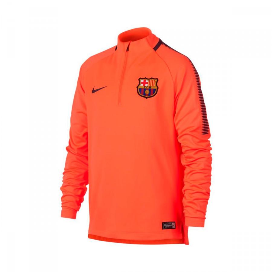 7578a1e8b Nike FC Barcelona Dry Squad 2017-2018 Sweatshirt. Hyper crimson-Night ...