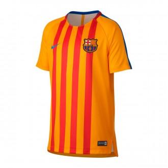Camiseta  Nike FC Barcelona Pre-Match 2017-2018 Niño University gold-Game royal