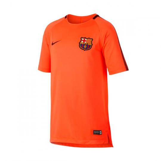 Camiseta  Nike FC Barcelona Squad SS 2017-2018 Niño Hyper crimson-Night maroon