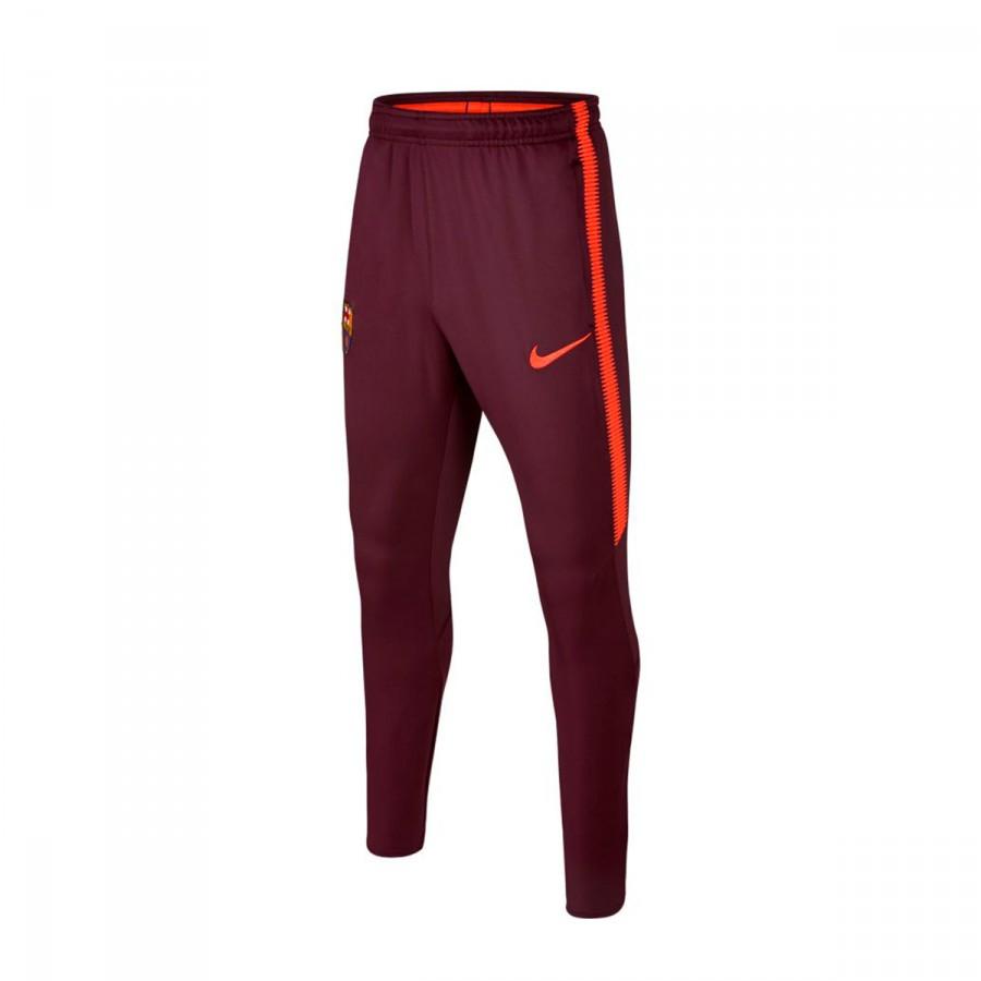 aff6128ed Nike FC Barcelona Dry Squad 2017-2018 kids Long pants. Night maroon-Hyper  crimson ...