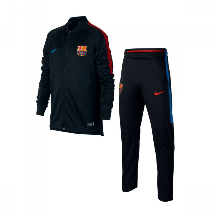 fato de treino nike jr fc barcelona dry squad 2017 2018 black soar loja de futebol f tbol emotion. Black Bedroom Furniture Sets. Home Design Ideas