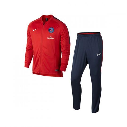 Fato de treino  Nike Jr Paris Saint-Germain Dry Squad 2017-2018 Rush red-Midnight navy-White