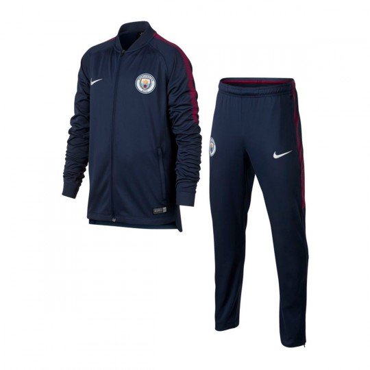 Fato de treino  Nike Jr Manchester City FC Dry Squad 2017-2018 Midnight navy-White