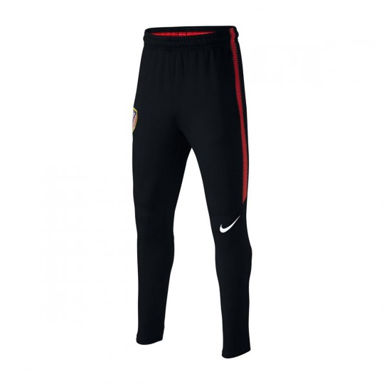 Pantalón largo  Nike Atletico de Madrid Dry Squad 2017-2018 Niño Black-Sport red-White