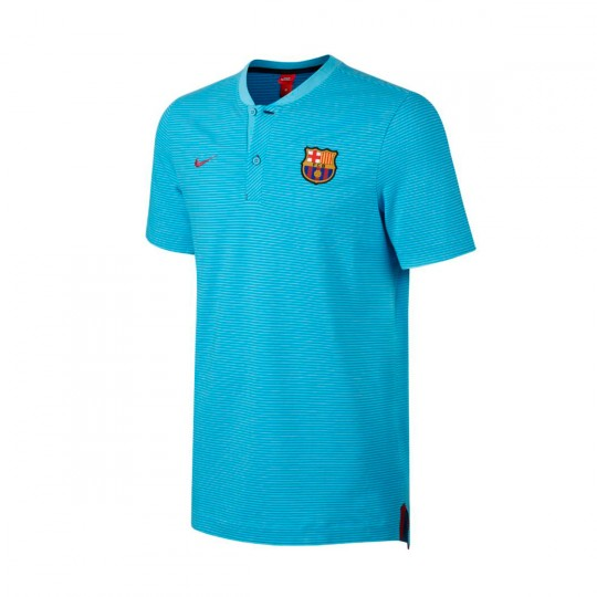 Polo  Nike FC Barcelona NSW Modern GSP 2017-2018 Polarized blue-Chlorine blue-Noble red