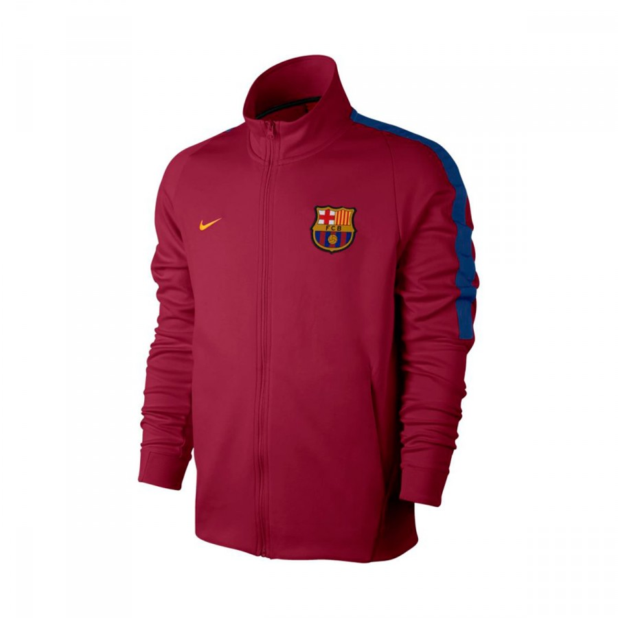Chaqueta Nike FC Barcelona NSW 2017-2018 Noble red-University gold ... a7eea62a090
