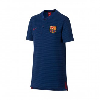 Pólo  Nike Jr FC Barcelona NSW Modern GSP 2017-2018 Deep royal blue-Binary blue-Noble red