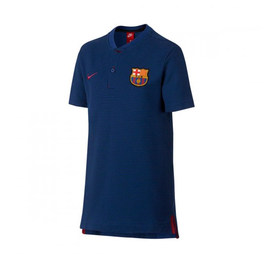 Polo  Nike FC Barcelona NSW Modern GSP 2017-2018 Niño Deep royal blue-Binary blue-Noble red