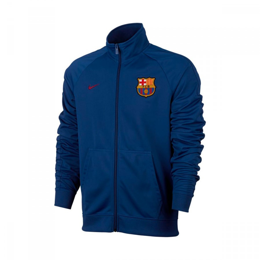 5095cf43f Jacket Nike FC Barcelona NSW Crew 2017-2018 Deep royal blue-Noble ...