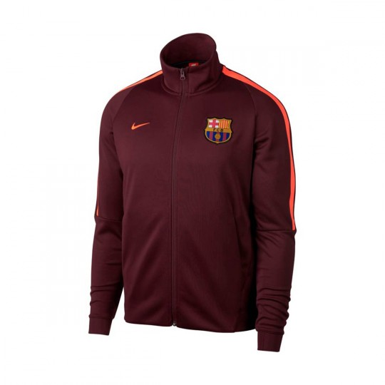 Casaco  Nike FC Barcelona NSW 2017-2018 Night maroon-Hyper crimson